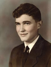 "William Eginton graduated from Storm Lake High School in 1944. At the time, he went by Leonard ""Leep"" Eginton. In his year book, which he edited, Eginton included a quote by his photo: ""Some men are born for great things."""