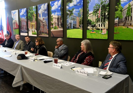 Current and new members of Southwest Tennessee legislative body introduce themselves during the Southwest Tennessee Development District's Legislative Luncheon, Thursday, Jan. 3.