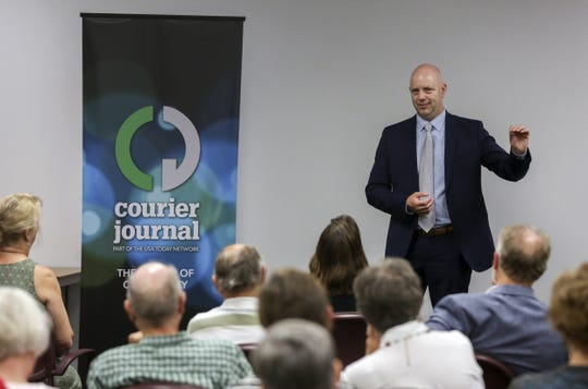 "The Courier-Journal's Joel Christopher hosts a ""Coffee with the Editor"" on Wednesday morning."