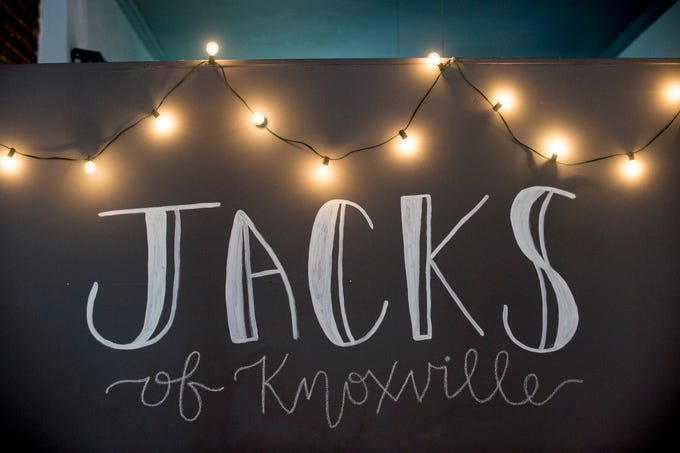 The Jacks of Knoxville logo inside the store at 133c South Gay Street in Knoxville, Tennessee on Friday, January 4, 2019. The shop, which is planned to open in February, will have a strong focus on selling arts and crafts made by local makers.