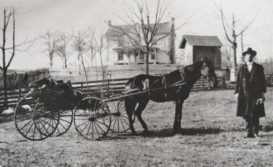 Mail was delivered by horse and buggy.  Along with other jobs, Sherrod's grandfather was a mail carrier at one time.