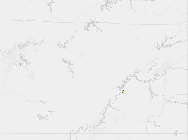 A magnitude 1.7 earthquake was recorded in Meigs County on Thursday.