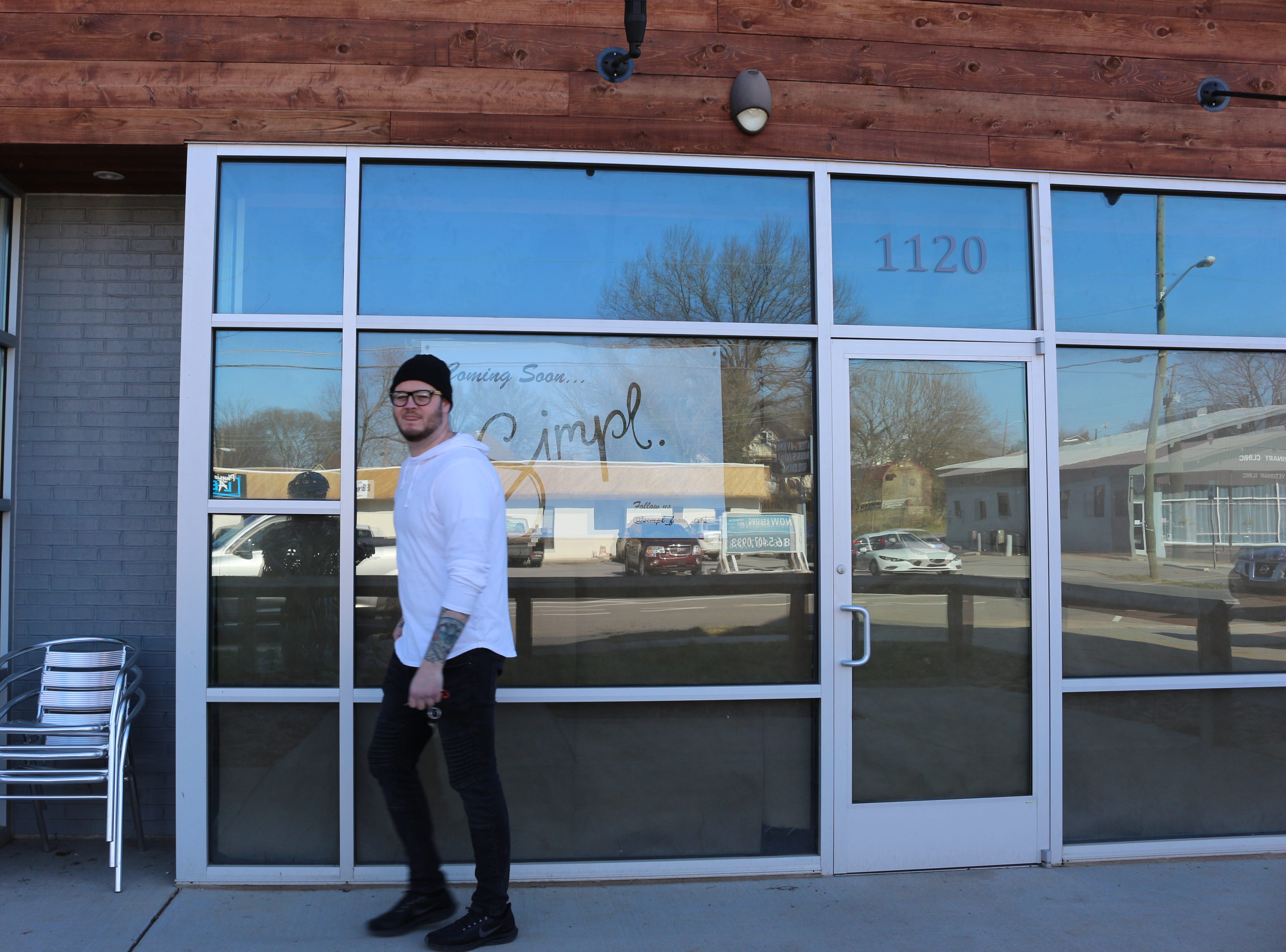 In spring 2019, the young chef is set to open his first restaurant, Simpl, in the space recently vacated by Three Bears Coffee on Sevier Avenue.