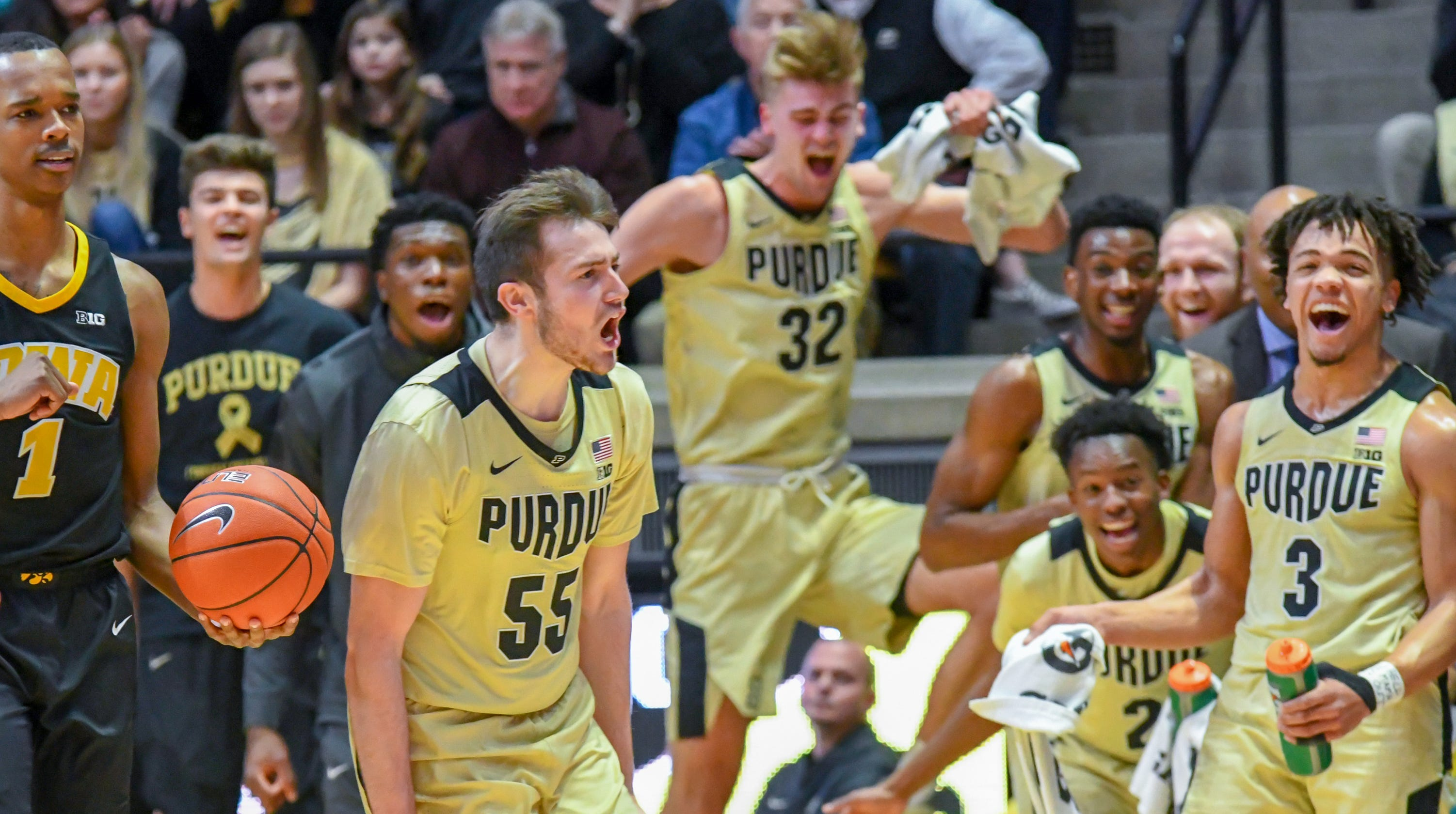 6af709e550e Purdue Boilermakers vs. Iowa Hawkeyes basketball video highlights