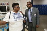 Kirby High School Principal Steevon Hunter discusses the upgrades to the school after the months-long closing triggered by a rodent infestation