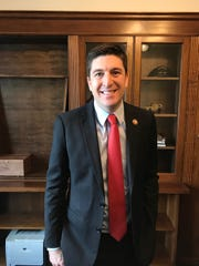 Bryan Steil stands in his new U.S. House office on Friday, Jan. 4, 2019. Steil, a  Republican from Janesville, is Wisconsin's newest member of Congress.