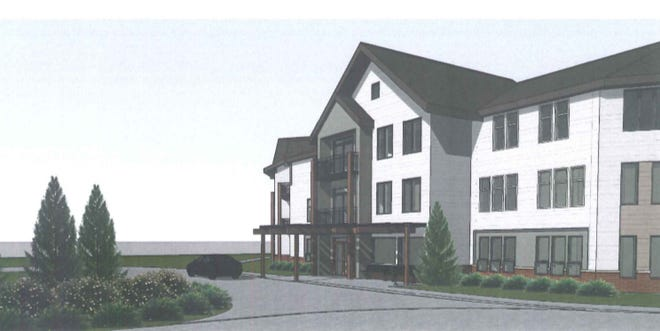 Glendale Commons would feature a three-story building as well as townhouses for seniors.
