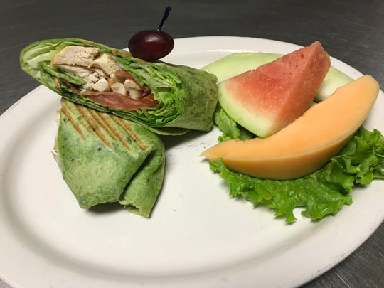 The wraps at Amalia's Family Restaurant are a popular lunch item and come with your choice of fries or fruit.