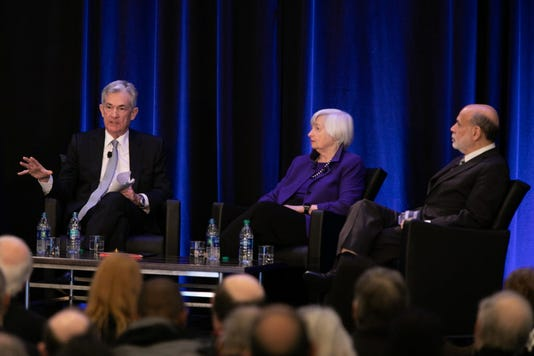 Federal Reserve Chair Jerome Powell And Former Fed Chairs Bernanke And Yellen Speak At Economic Conference In Atlanta