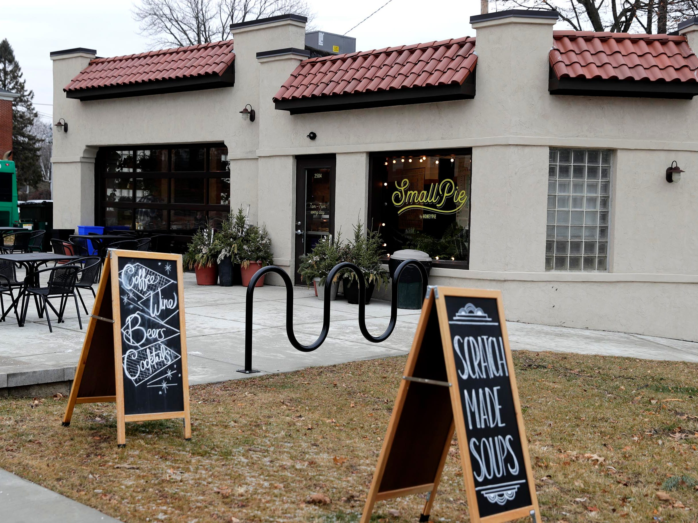 Smallpie is a small, neighborhood, counter-service cafe specializing in handmade savory and sweet pies and treats.  It's at 2504 E.Oklahoma Ave.