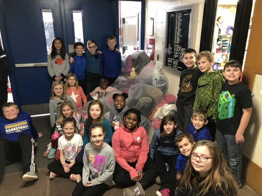 Students at Amy Belle Elementary School in Germantown collected 125 coats for the Fox 6 Coats for Kids campaign.