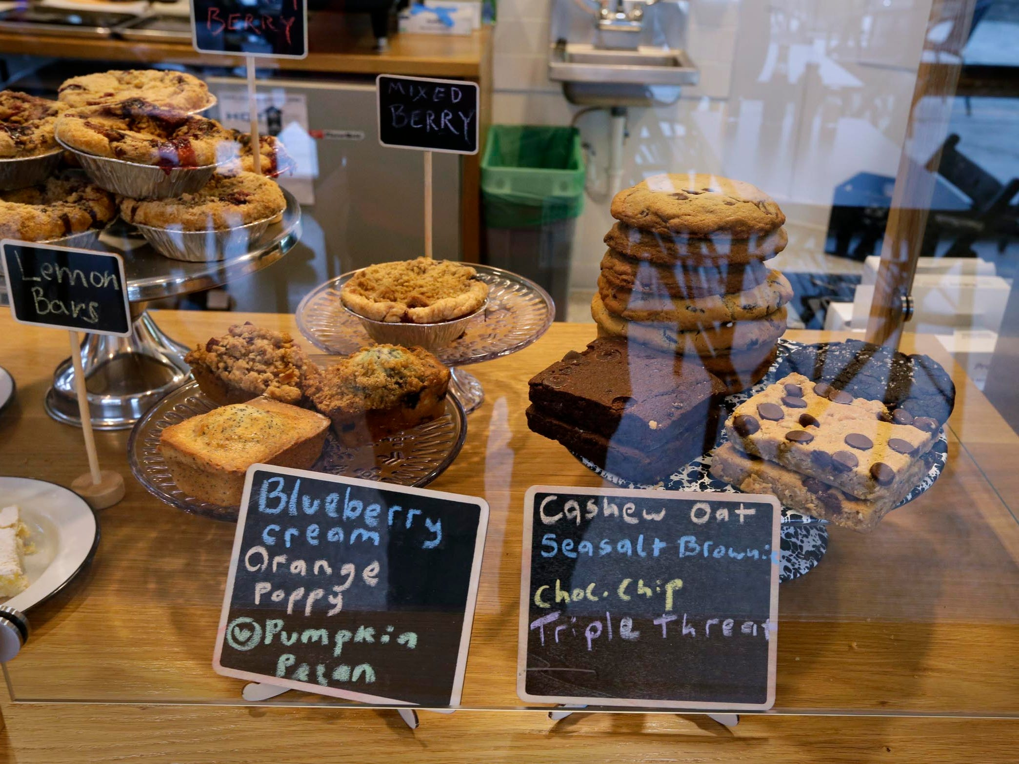Salted brownies, Sweet breads, Triple Threat Cookies and other treats are on the menu at  SmallPie in Bay View.