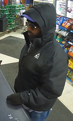 Man wanted in Steve's Liquor Store robbery.