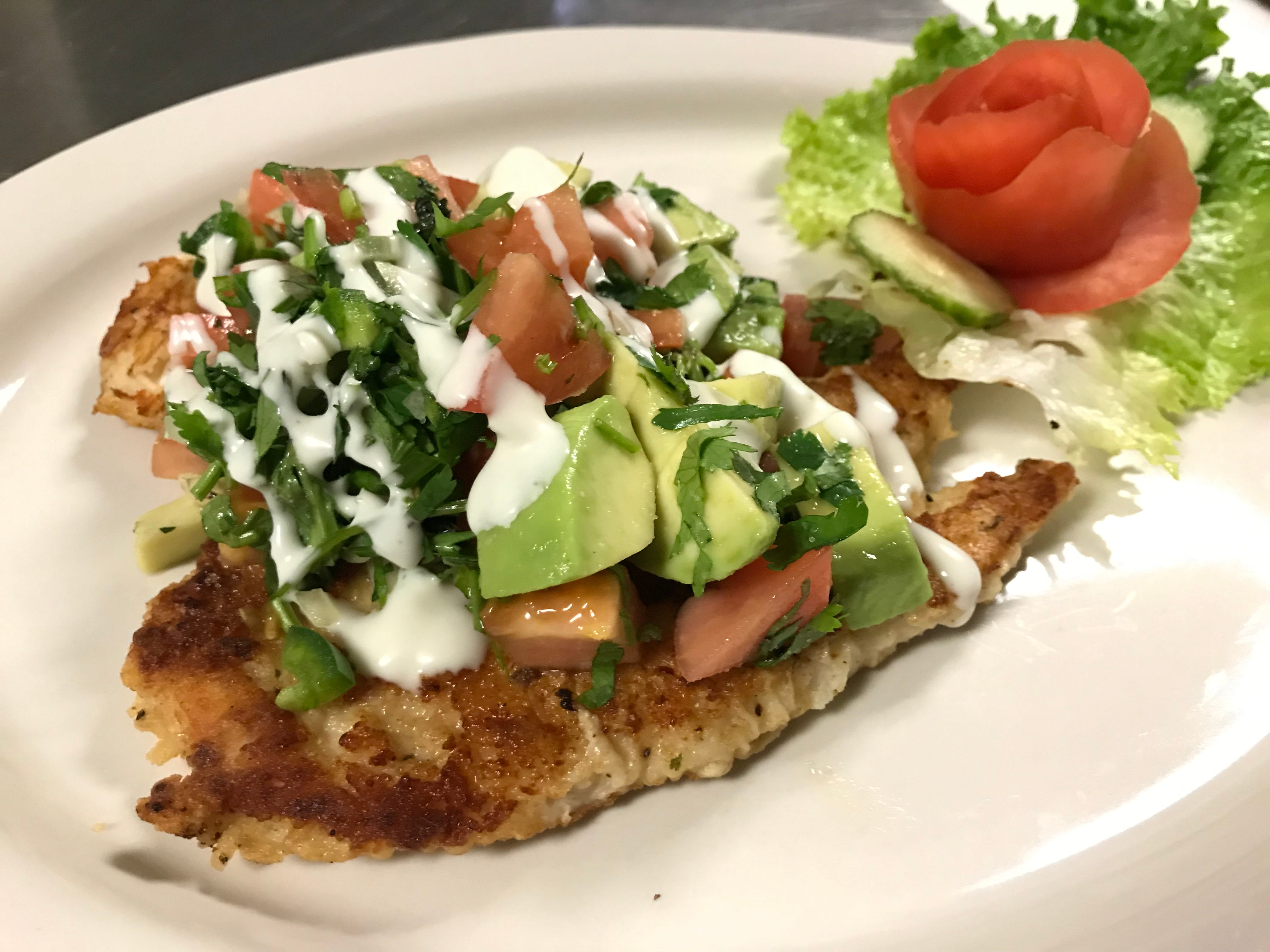 Amalia's Family Restaurant chef and co-owner Manuel Perez prides himself on serving fresh, made-to-order food like the California Chicken.