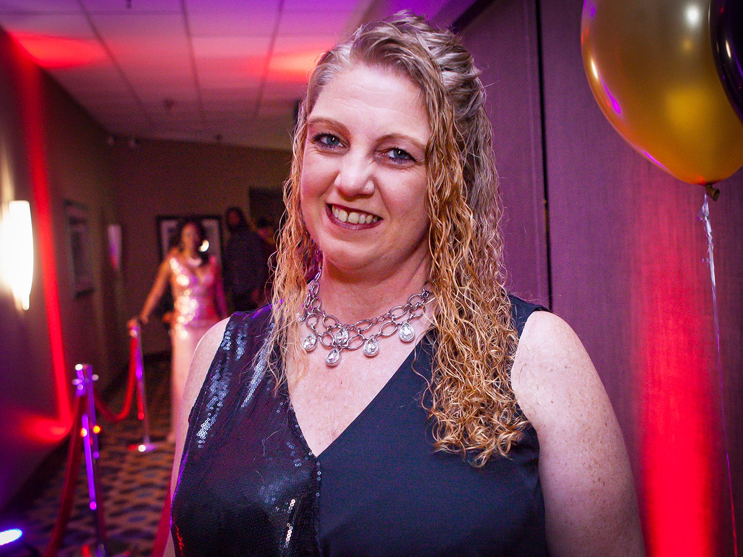 Angela Hays at the Pyramid Foundation's Shimmer and Shine New Year's Eve party, held at DoubleTree Hotel in Murfreesboro.