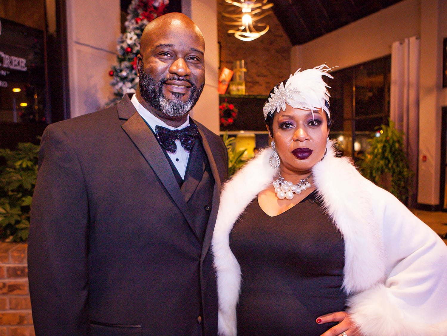 Maurice and Tyeisha Williams at the Pyramid Foundation's Shimmer and Shine New Year's Eve party, held at DoubleTree Hotel in Murfreesboro.