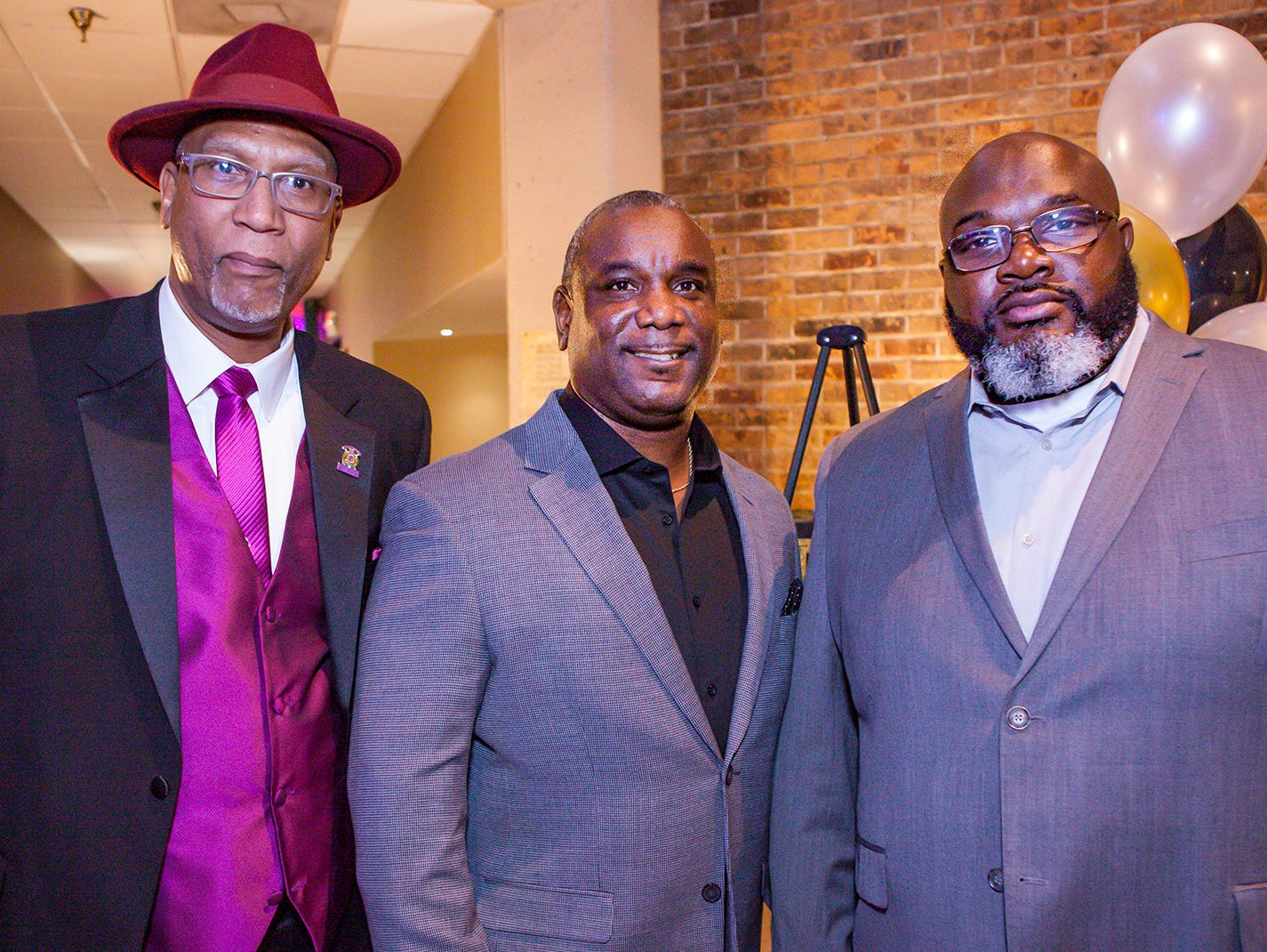 Willie Nelson, Michael Polk and Sean Adams at the Pyramid Foundation's Shimmer and Shine New Year's Eve party, held at DoubleTree Hotel in Murfreesboro.