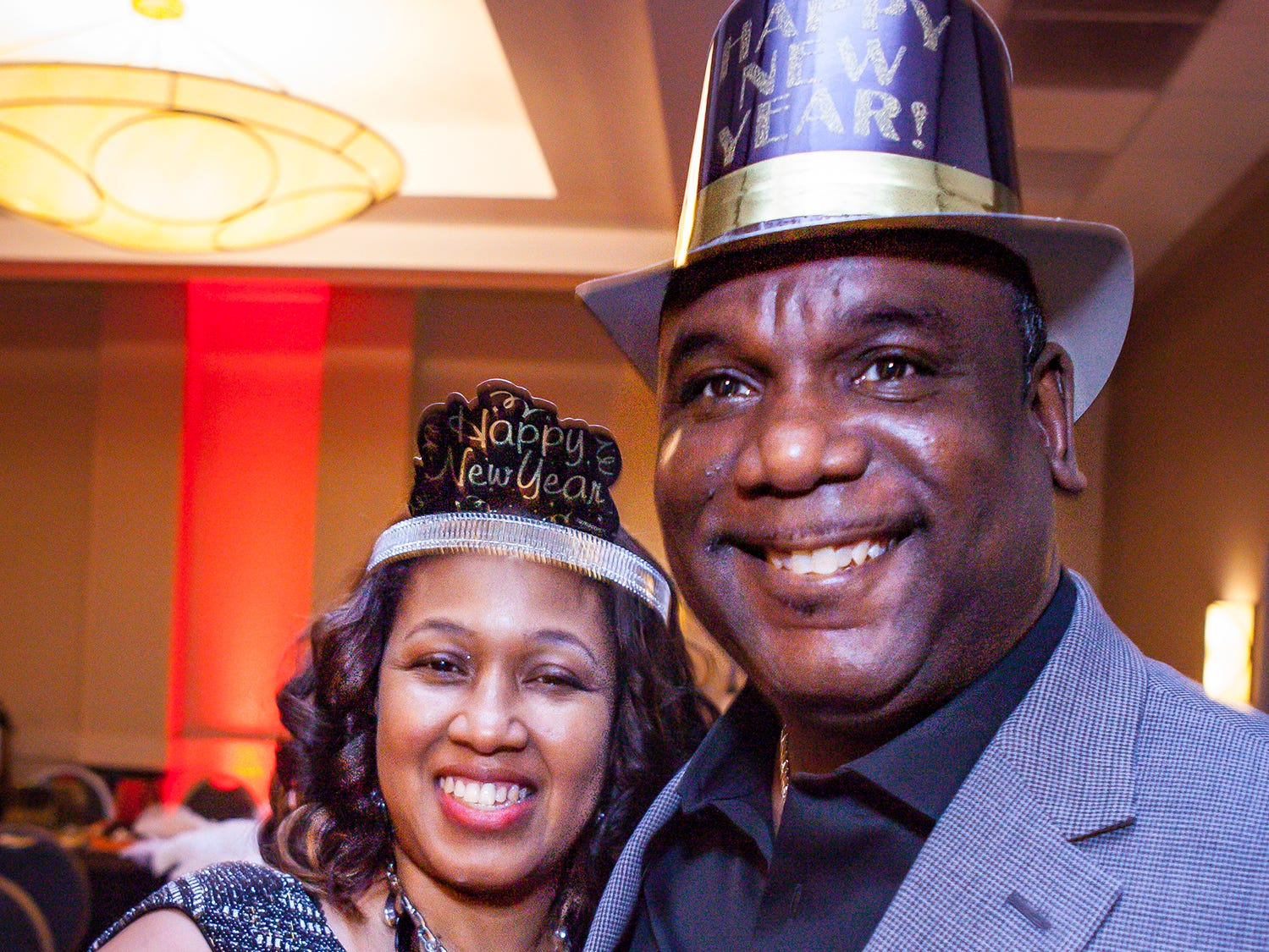 Jackie and Michael Polk at the Pyramid Foundation's Shimmer and Shine New Year's Eve party, held at DoubleTree Hotel in Murfreesboro.