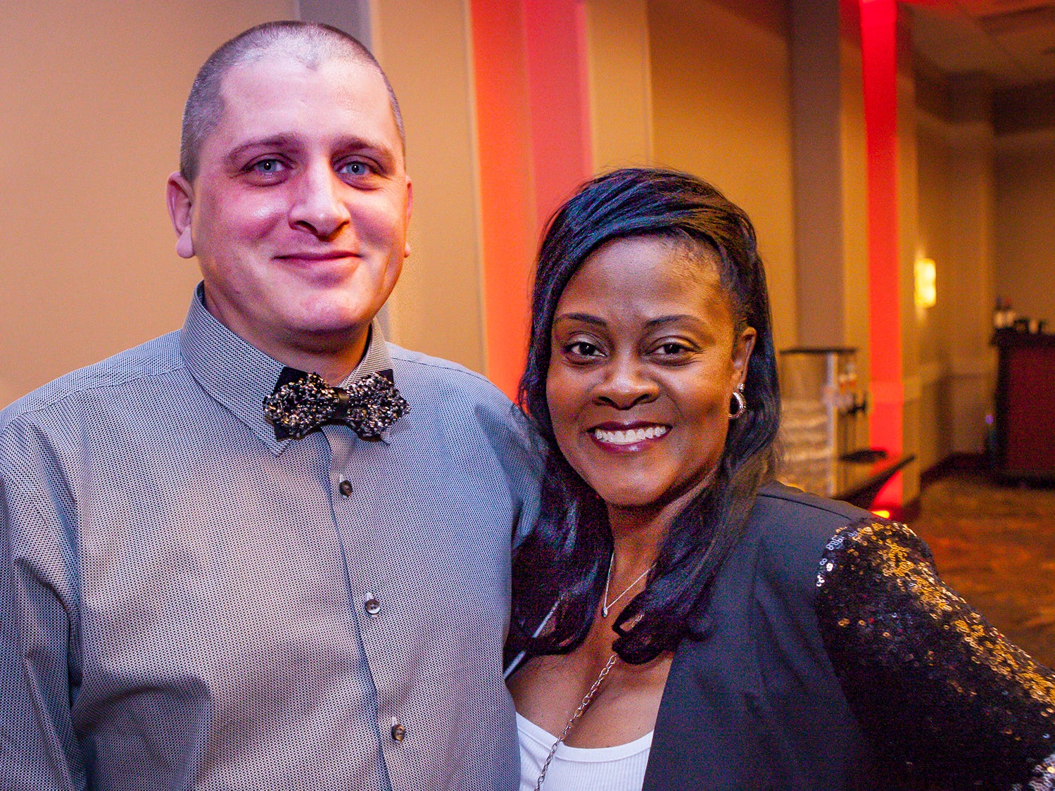 Daniel and Alexia Youngblood at the Pyramid Foundation's Shimmer and Shine New Year's Eve party, held at DoubleTree Hotel in Murfreesboro.