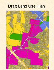 This draft land use plan shows potential commercial development zoning in pink for an Enon Springs Road extension project from Old Nashville Highway west to blend into a Rocky Fork Road near an overpass of Interstate 24. Smyrna officials hope a future interchange will open where Rocky Fork Road has an overpass of the interstate.