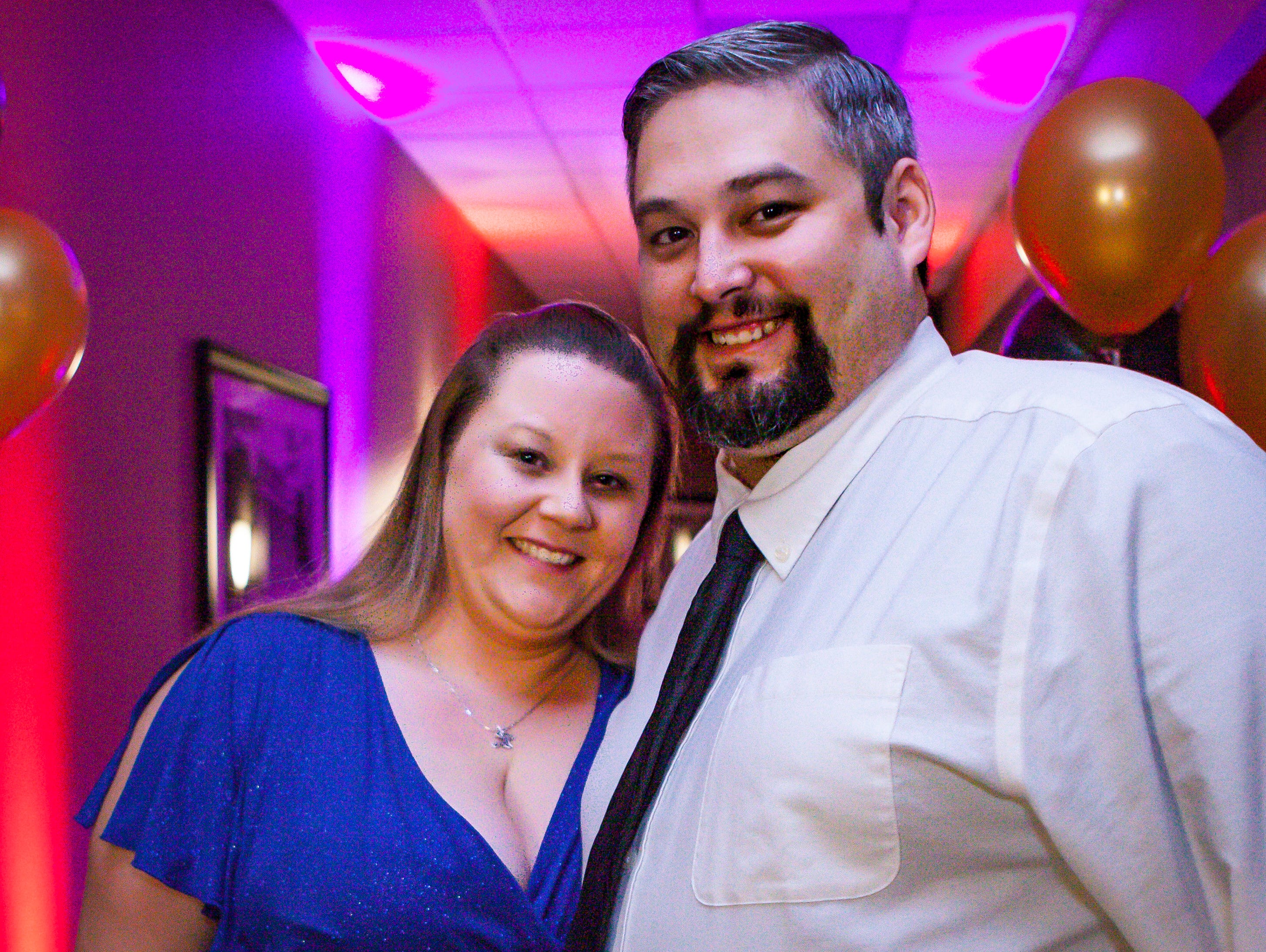 Jessica and Jared Unger at the Pyramid Foundation's Shimmer and Shine New Year's Eve party, held at DoubleTree Hotel in Murfreesboro.