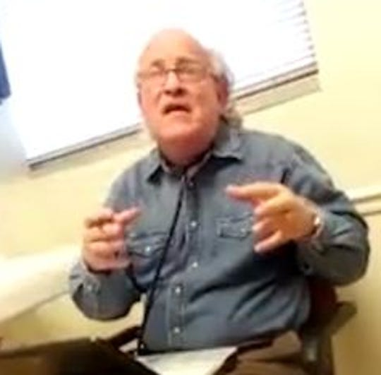 Dr. Darrel Rinehart prescribes Adderall to a patient in an undercover video shot in his clinic in Columbia, Tenn., in 2016. Tennessee officials suspended Rinehart's license after he had five patients die from overdoses in less than a year.