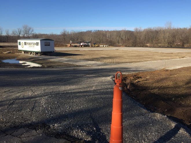 Site work has been done for the new Village of Granville Service Center on Columbus Road. Village Manager Steve Pyles said the new facility should be completed by June or July of this year.