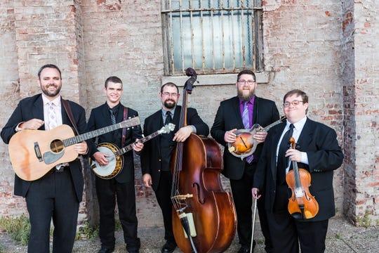 Michael Cleveland and Flamekeeper will bring their bluegrass sound to Centenary Stage Co. on Saturday, Jan. 26, to conclude the theater's annual January Thaw concert series. Cleveland, far right, has been hailed as a fiddle prodigy.