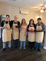The Mara's team is made up of head baker David Levey, baker Glen Magley, owner Allison Kohler, baker Mara Magley and lead baker, chef and decorator Marvin Salazar (left to right).