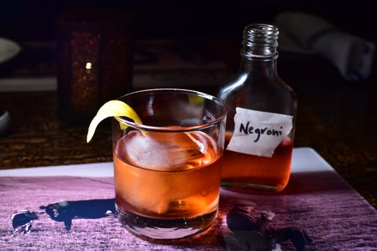 Barrel-aged Negroni at Hearth and Tap in Montvale. Photo: Marko Georgiev/Staff