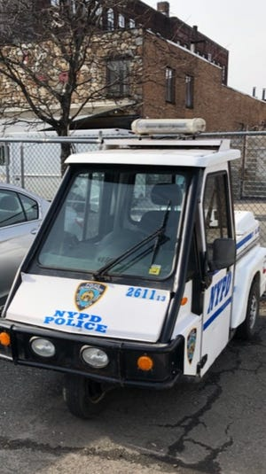 The stolen New York Police Department scooter