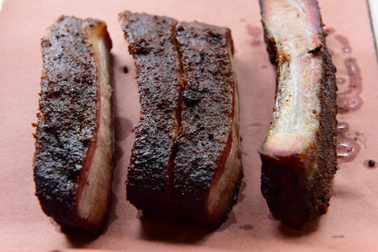 Proteins are super in: Baby Back Ribs at Red White and Que in Kearny.
