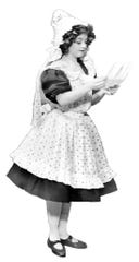 "Anna Laughlin as Dorothy, in the original 1902 stage production of ""The Wizard of Oz"""