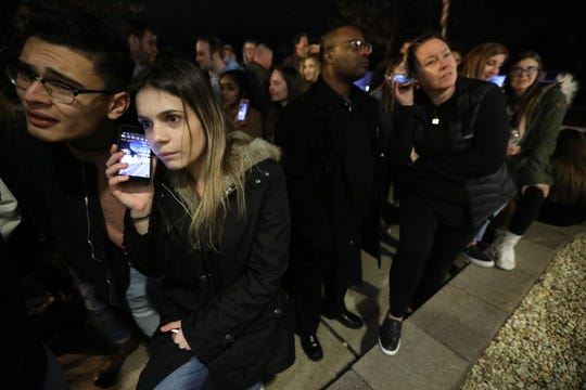 After all the seats were taken at the Dr. Frank A. Calabria Education Center in Parsippany, for the board of education meeting, hundreds were left outside to listen to the meeting of Instagram Live.   Thursday, January 3, 2019