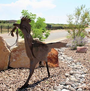 Installed and landscaped by the LCU Water Conservation Program, the new little roadrunner at the entrance to the WMIP stands for water conservation and thriving in the desert southwest.