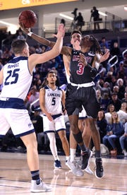 New Mexico State lost its WAC opener at California Baptist on Thursday night. The Aggies return home to host Grand Canyon on Thursday.