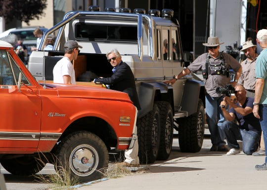 "Actor Michael Douglas is seen during the filming of ""The Reach"" on Oct. 1, 2013, on North Behrend Avenue in downtown Farmington."