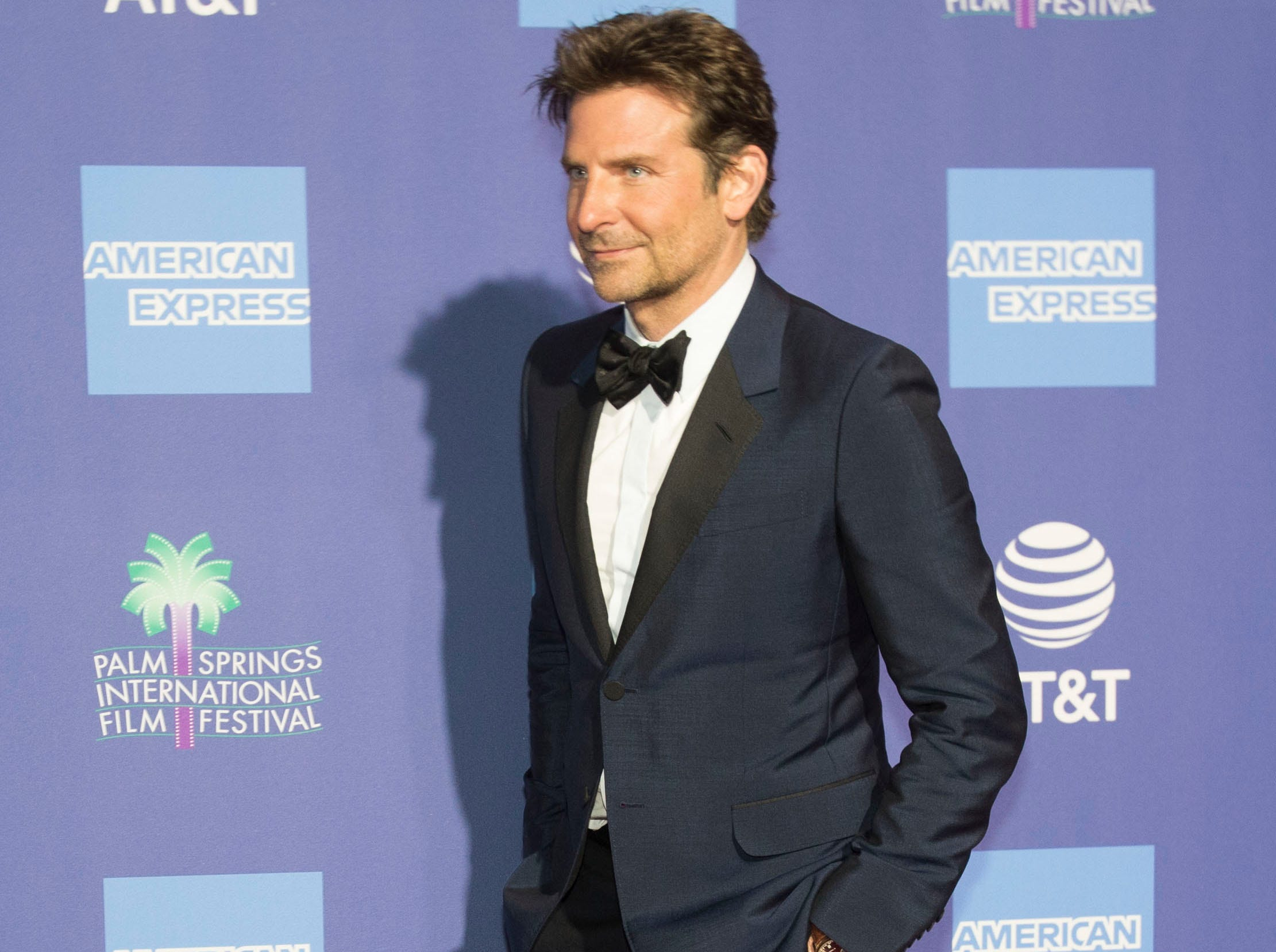 Bradley Cooper arrives on the red carpet during the 2019 Palm Springs International Film Festival at the Palm Springs Convention Center on January 3, 2019.