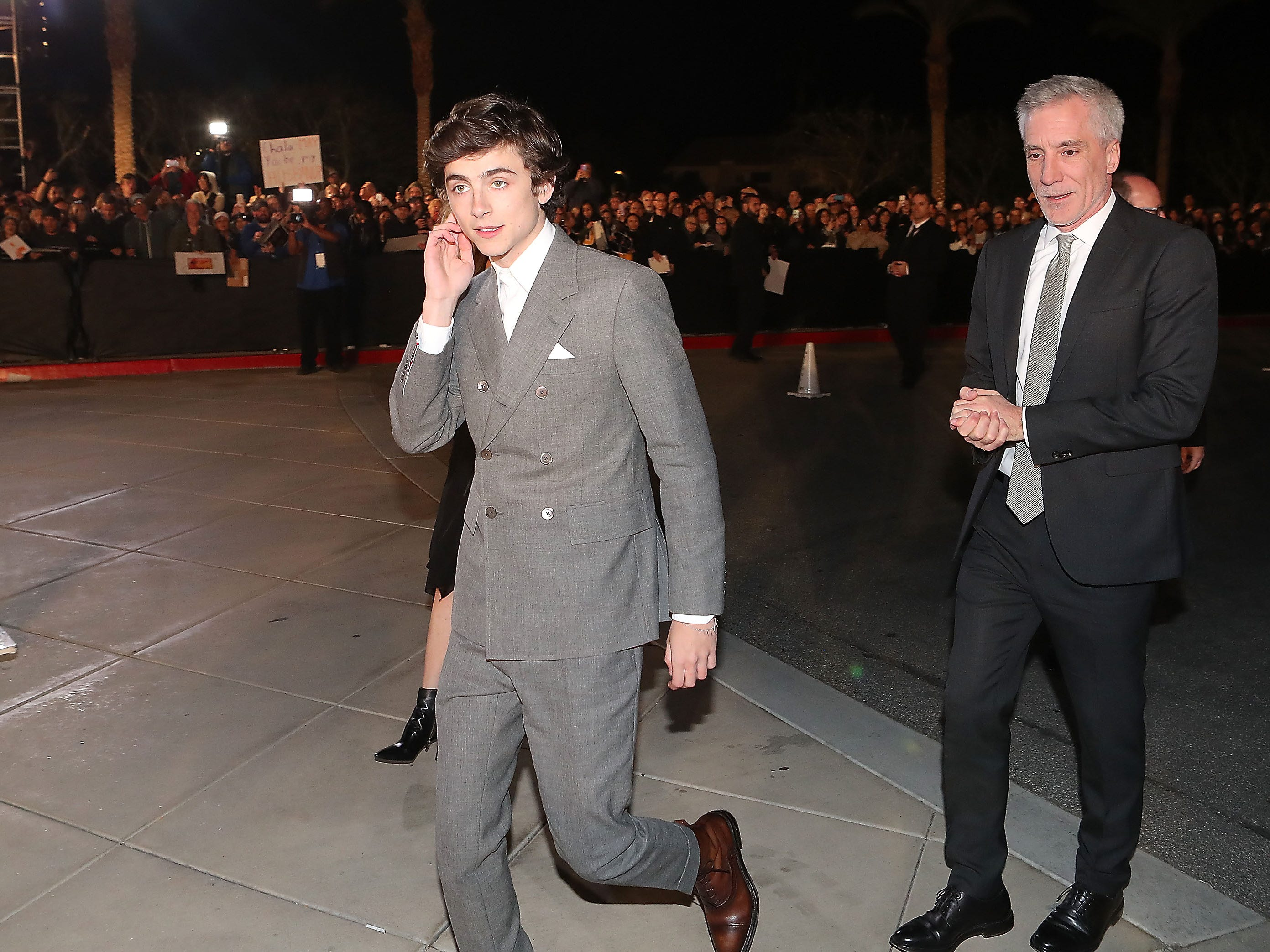 Timothee Chalamet at the Palm Springs International Film Festival Awards Gala, January 3, 2019.