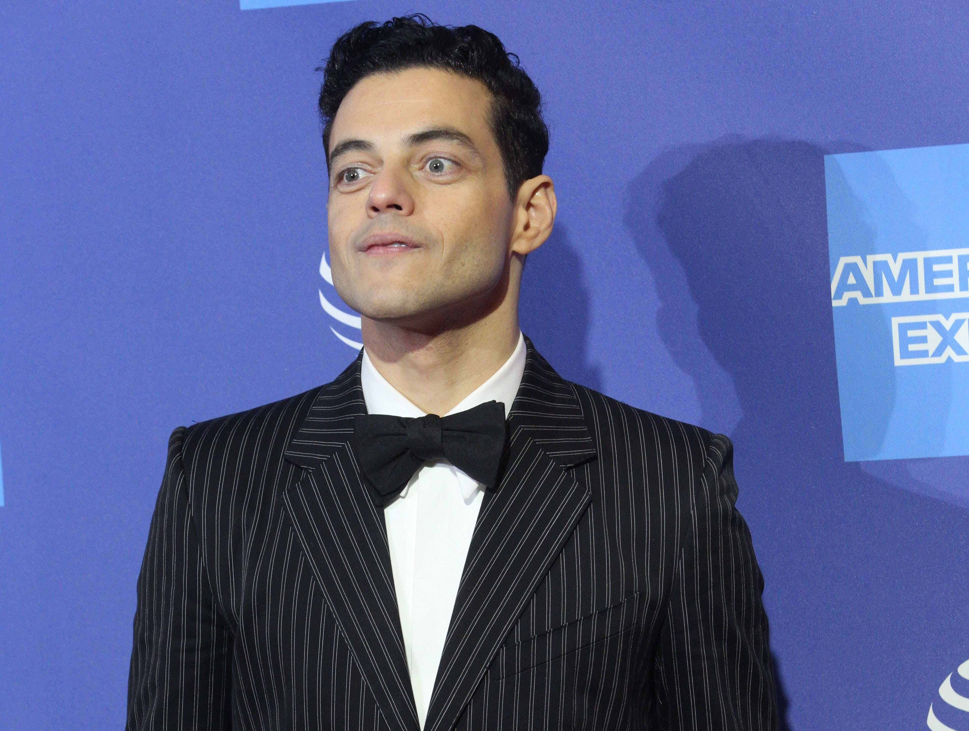 Rami Malek arrives on the red carpet during the 2019 Palm Springs International Film Festival at the Palm Springs Convention Center on January 3, 2019.