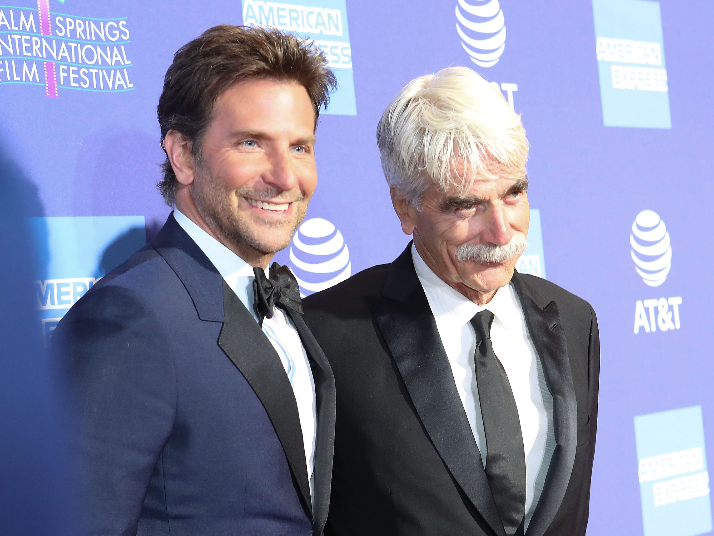 Bradley Cooper and Sam Elliott at the Palm Springs International Film Festival Awards Gala, January 3, 2019.