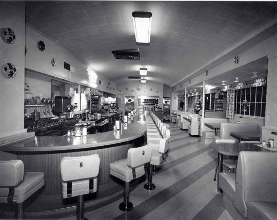 Interior of Louise's Pantry in the 1950s.