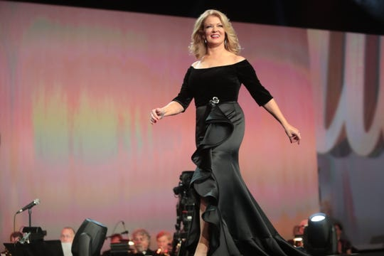 Mary Hart hosts on Thursday, January 3, 2018 at the Palm Springs International Film Festival Gala in Palm Springs.