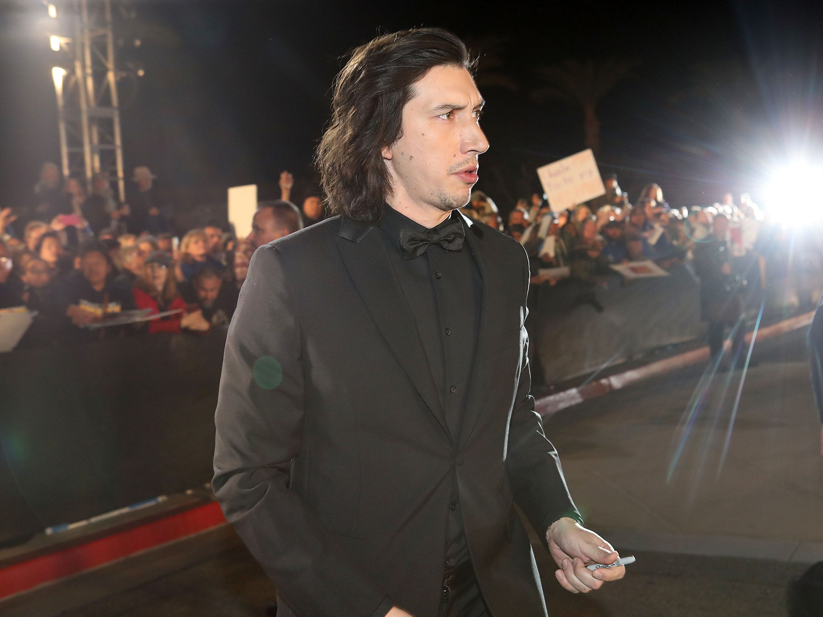Adam Drive greets his fans at the Palm Springs International Film Festival Awards Gala, January 3, 2019.