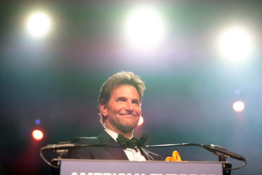 Bradley Cooper received the Director of the Year Award for his film 'A Star is Born' Thursday, January 3, 2018 at the Palm Springs International Film Festival Gala in Palm Springs.