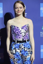 Emma Stone arrives on the red carpet during the 2019 Palm Springs International Film Festival at the Palm Springs Convention Center on January 3, 2019.
