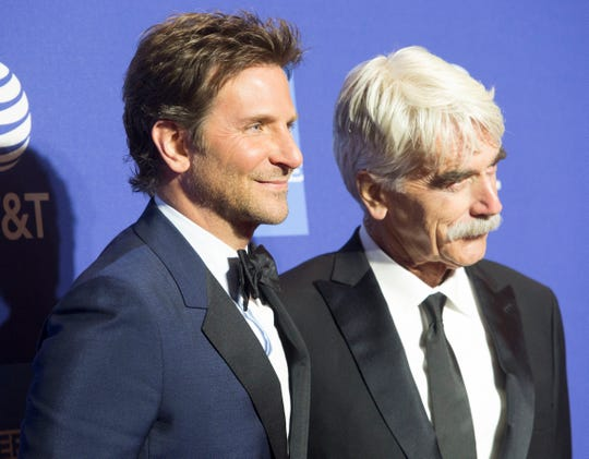 Bradley Cooper and Sam Elliot arrive on the red carpet during the 2019 Palm Springs International Film Festival at the Palm Springs Convention Center on Jan. 3, 2019.