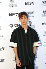 Troye Sivan arrives at Variety's Creative Impact Awards and 10 Directors to Watch during the Palm Springs International Film Festival at the Parker Palm Springs on Friday, January 4, 2019.