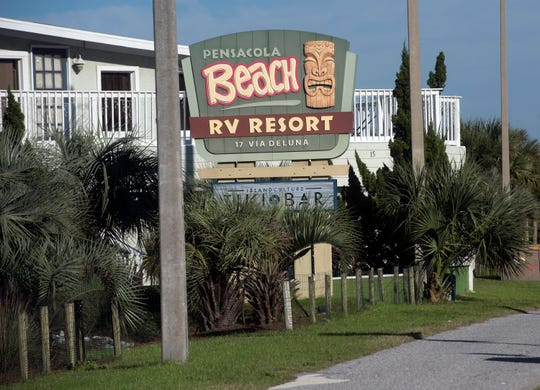 Since the partial government shutdown displaced those planning to camp at Gulf Islands National Seashore, some visitors have found refuge at the Pensacola Beach RV Resort.