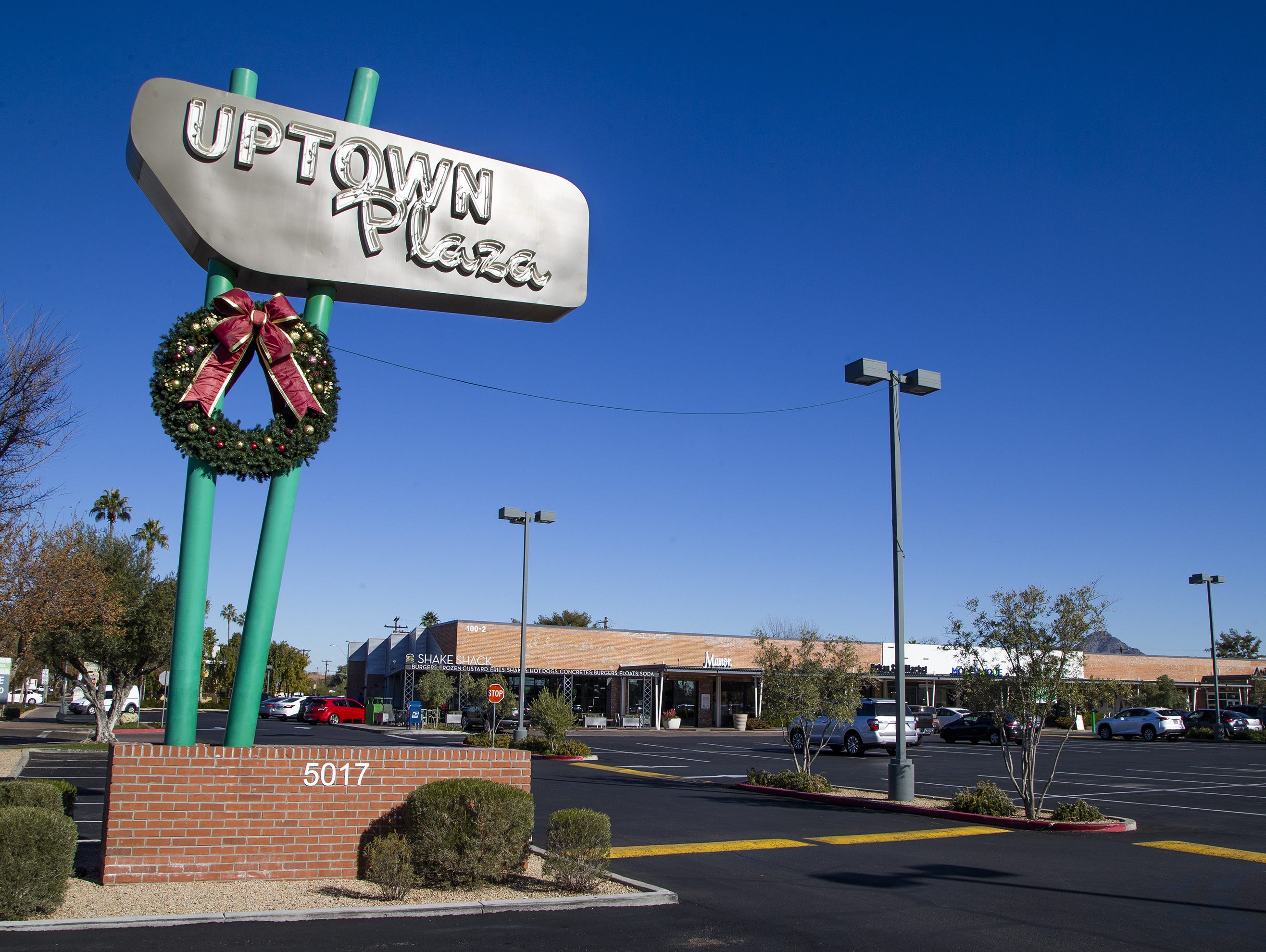Uptown Plaza is a strip mall at the intersection of Camelback Road and Central Avenue in Phoenix.